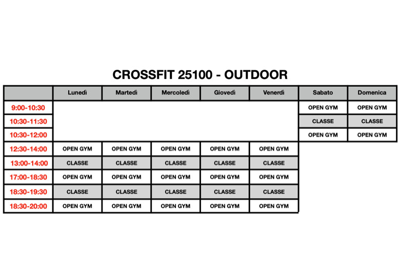 CROSSFIT OUTDOOR